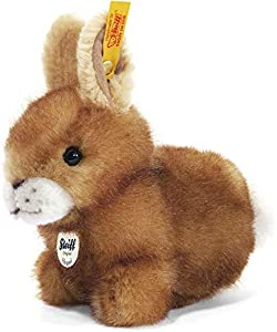 Steiff 80081 - Peluche de conejo color marrón de 14 cm Importado de Alemania