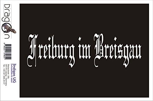 INDIGOS UG Aufkleber Autoaufkleber - JDM Die Cut Auto OEM - Stadt Freiburg im Breisgau - 200x70mm weiß - Auto Laptop Tuning Sticker Heckscheibe LKW Boot