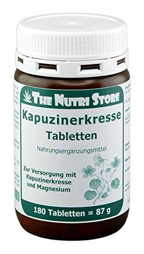 Kapuzinerkresse Tabletten 180 Stk. mit 200 mg Kapuzinerkressepulver und 25 mg Magnesium