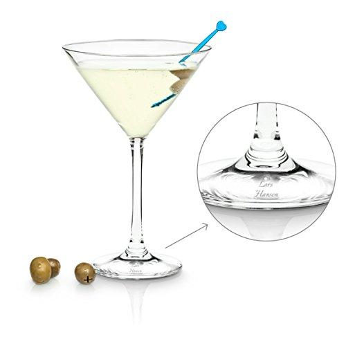 Geschenkidee.de Martini-Glas mit Gravur   personalisierbares Cocktail-Glas von Leonardo mit Wunsch-Namen   270 ml