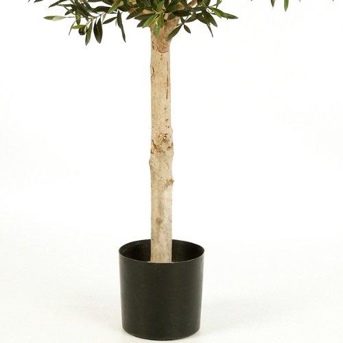 artplants – Künstlicher Olivenbaum-Hochstamm NIKOLAS mit 13728 Blättern, 210 cm – Künstlicher Baum / Deko Olivenbaum
