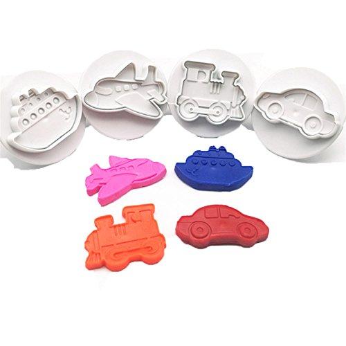 Lalang 4pcs Auto-Styling Plätzchenausstecher Cookie Cutters Plätzchenformen Backformen Fondant Keks Ausstechformen Set Geschenkkarton