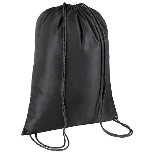 TRIXES sacca nera con chiusura a cordoncino da ginnastica, piscina, educazione fisica.