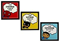 Decorate the walls of your kids, girls or boys room, with these framed inspiring heroes posters/paintings. Available at a low/discount price, this product comes without glass and can be wall mounted with the help of hooks screwed at the back. An appr...