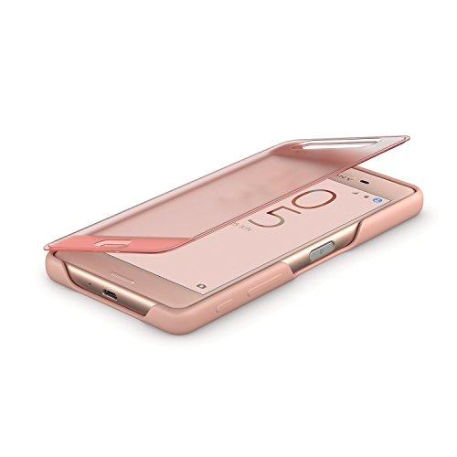 Sony SCR56 - Funda con tapa táctil para móvil Xperia X Performance, color rosa