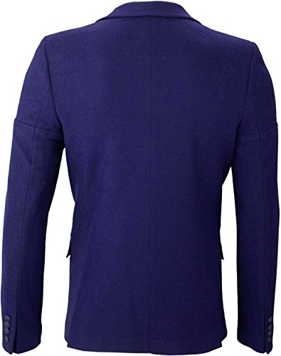YAKE by S.O.H.O. NEW YORK Sakko Herren Slim Fit - Blazer Herren Sportlich Sheffield Blau_012