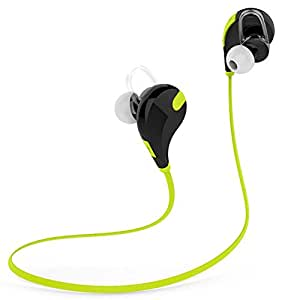 Generic QCY QY7 Wireless Bluetooth 4.1 Stereo Earphone Sport Running Headphone with Mic Green