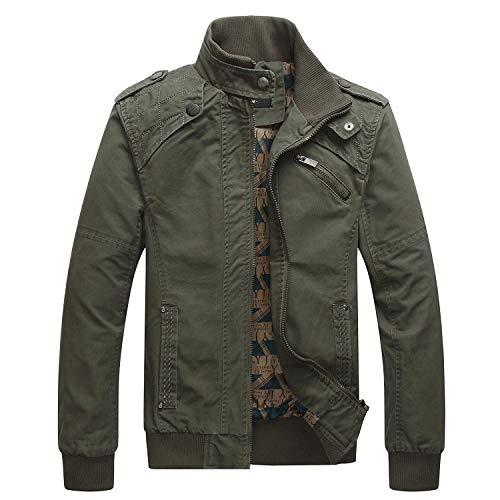 Betrothales Casual Herren Business Winterjacke Sportswear Bomberjacke Elegant Slim Jacken Soldat Big Windjacke Langarm Zipper Coat Outerwear...