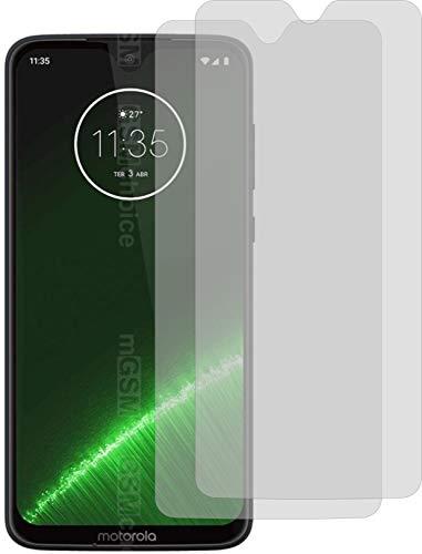 2X Crystal Clear klar Schutzfolie für Motorola Moto G7 Plus Bildschirmschutzfolie Displayschutzfolie Schutzhülle Bildschirmschutz Bildschirmfolie Folie