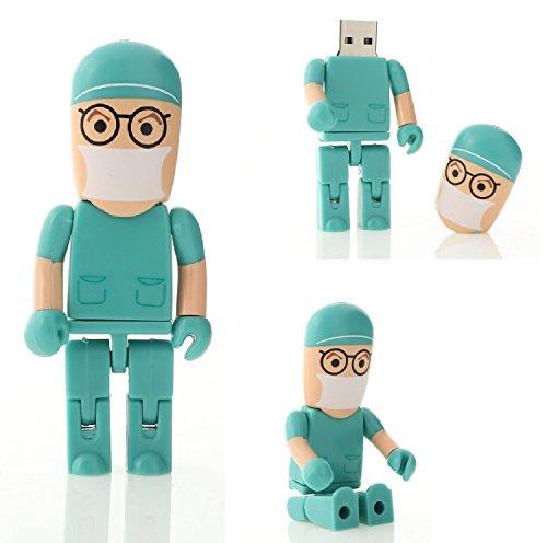 Memoria USB de 16 GB Médico Forma Cirujano (Verde)