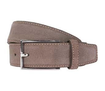STRELLSON ceinture hommes ceinture en cuir suede marron 1594, Farbe:braun, Länge:105 cm