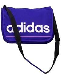 ADIDAS Herrenhandtaschen Damenhandtaschen Umhängetaschen ESSENTIALS LINEAR MESSENGER BAG SCHOOL SPORT CASUAL LAPTOP BAG BRAND NEW (Purple)