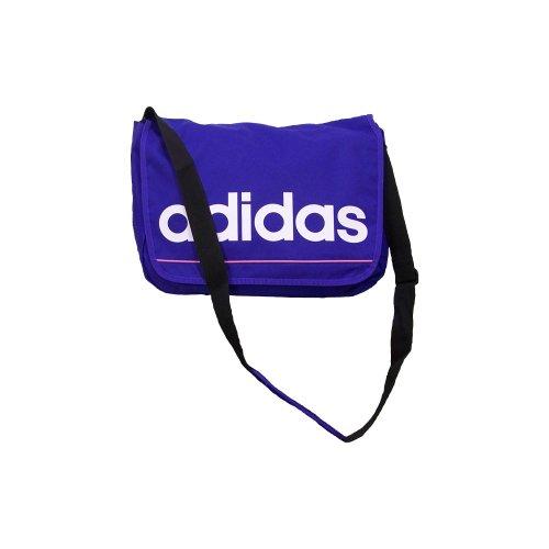 ADIDAS Bagages Sacs à dos pour ordinateur portable ESSENTIALS LINEAR MESSENGER BAG SCHOOL SPORT CASUAL LAPTOP BAG BRAND NEW (Purple)