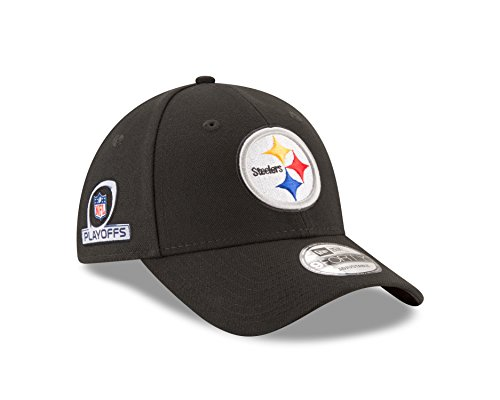Pittsburgh Steelers New Era 9Forty NFL The League Playoff Patch Adjustable Hat Hut (Patch Steelers)