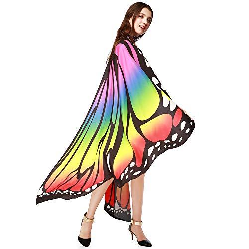 (Bellelove♚2019 Fee-Schmetterlings-Flügel-Schal Mit Armband,Frauen Schmetterlingsflügel Schal Schals Damen Nymphe Pixie Poncho Kostüm Zubehör)