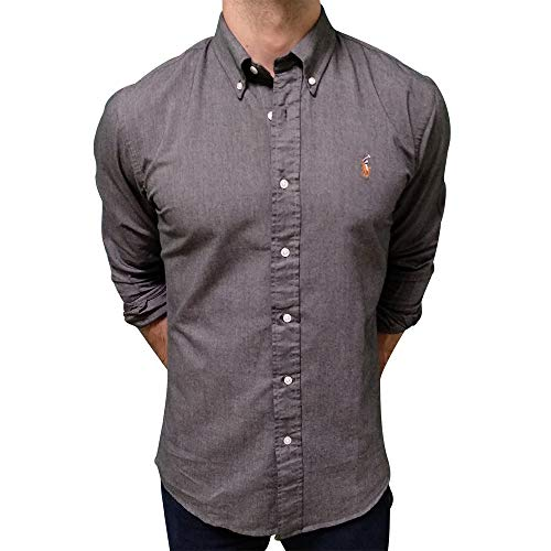 Ralph Lauren Oxford Shirt Slim Fit (L, Dark Ash)