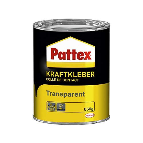 Pattex Kraftkleber Transparent, extrem starker Kleber für höchste Festigkeit, Alleskleber für den universellen Einsatz, hochwärmefester glasklarer Klebstoff, 1 x 650g
