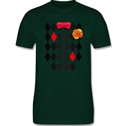 Karneval & Fasching - Narrenhemd - Herren Premium T-Shirt Dunkelgrün