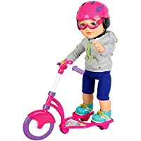 "Molly Dolly 18 Inch Doll Scooter Set - Fits Most 18"" Dolls - Perfect For Our Generation or American Girl Dolls"