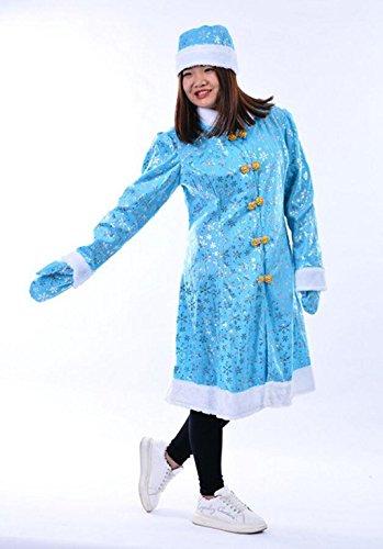MFFACAI Frauen Fräulein Santa Damen Sexy blau Süße Fräulein Weihnachtsmann Weihnachten Kostüm und Hut Leistung kostüm