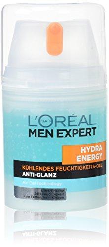 L\'Oreal Men Expert Hydra Energy Kühlendes Feuchtigkeits-Gel, Anti-Glanz, 50 ml