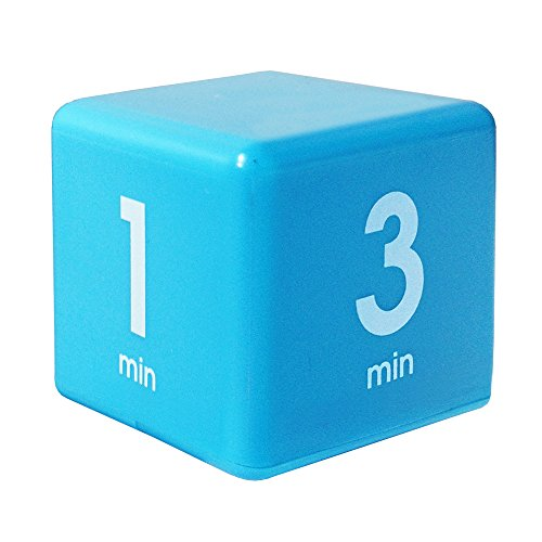 Datexx Time Cube Der Wunder-Zeitwürfel mit 1, 3, 5 und 7 Minuten für das Zeitmanagement - Küchen-Timer - Hausaufgaben-Timer - Trainings-Timer - Meeting-Timer | aquamarin
