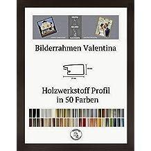 Valentina marco de fotos MDF ligeramente redondeado 48 x 68 cm color y tipo de vidrio