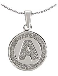 Ananth Jewels 925 Silver Letter A BIS Hallmarked Pendant With Chain For Men And Women