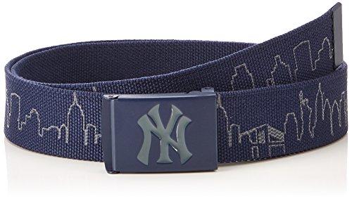 MSTRDS MLB Reflective Skyline Belt 10544 navy