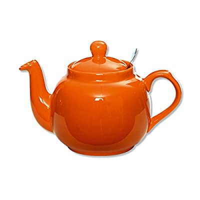 Théière en céramique avec filtre inox 1,5L orange - FARMHOUSE - Bruno Evrard