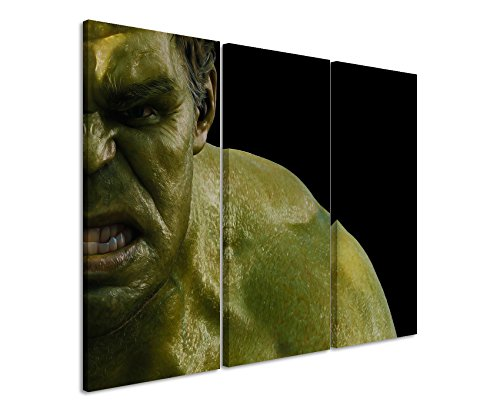 Lienzo 3 teilig The_Avengers_Hulk_ 3 x 90 x 40 cm (total 120 x 90 cm) _Ausführung schöner marco como cuadro con lienzo en bastidor