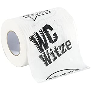 infactory Toilettenpapier Witze, 1 Rolle
