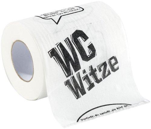 "Preisvergleich Produktbild infactory Klopapier bedruckt Fun: Toilettenpapier ""Witze"", 1 Rolle (Geschenk-Toilettenpapier)"