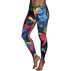 MEIbax Leggings Deportes Pantalones para Mujeres de Estampado de Las Entrenamiento Gimnasio Correr de Fitness Gym Yoga Pantalon Deportivo Mallas Running Workout Pantalones elásticos