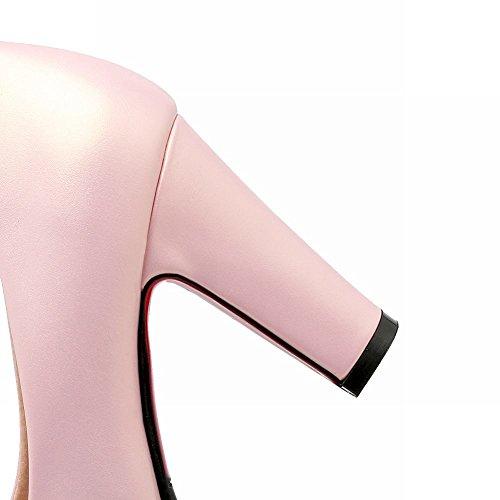 Mee Shoes Damen süß runde chunky heels Pumps Pink
