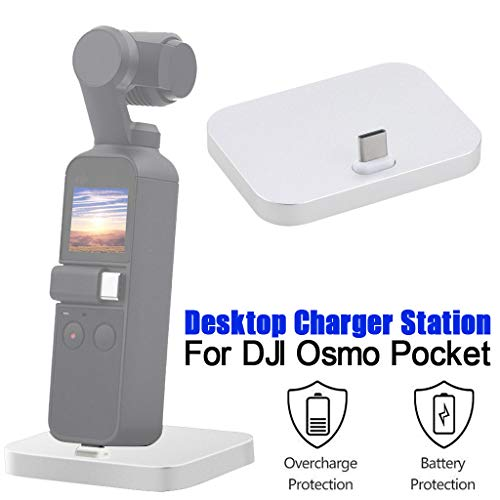 Prevently Schnellladestation für Dock Dock Station Ladestation für DJI Osmo Pocket,Dock Desktop Ladestation Ladestation Cradle Station