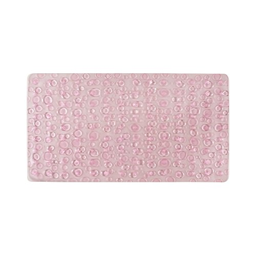 Freelance PVC Shower Mat, Bathroom Bath Tub Non Slip Grip Bathmat, Pink (71 x 39 cm)