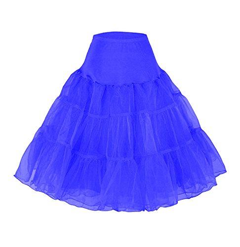 Petticoat Unterrock 50er Jahre krinoline hoopless Kleid tutu Petticoat kleid 50s tüllrock kinder rockabilly net petticoat skirt Crinoline Vintage Retro Mehreren Farben Röcke Swing Kleid (Slip Rock Hochzeit)