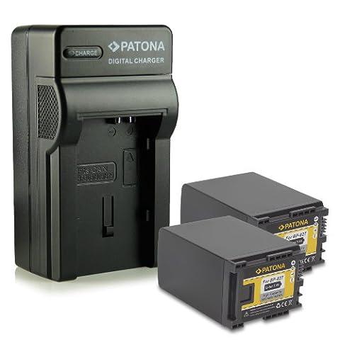 Nouveauté - 4en1 Chargeur + 2x Batterie comme BP-827 pour