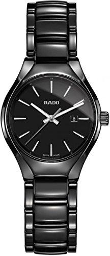Rado True Damen-Armbanduhr 30mm Armband Keramik + Gehäuse Batterie R27059152