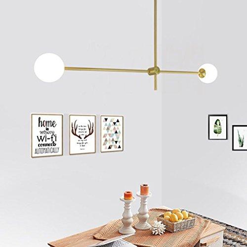 $illuminazione plafoniera a soffitto in vetro rotondo nordico lampada a sospensione a sospensione in oro moderno regolabile droplight lampada a sospensione a sospensione semplice luci interne ( edizione : 2 teste )