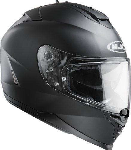 HJC - IS17 - Schlicht Motorrad Helm - Weiß - Alle Größen - Schwarz, Medium