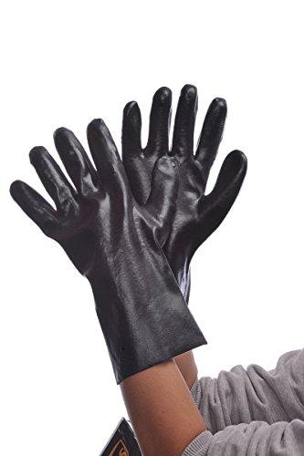 Major Handschuhe 96–5401glatt schwarz Finish 12Zoll PVC Handschuhe, groß (12Stück) (Schwarz Handschuhe Pvc-beschichtete)
