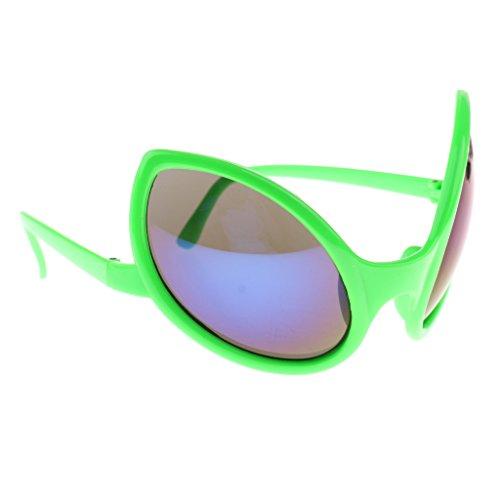 MagiDeal Alien- Brille Sonnenbrille Partybrille Spaßbrille Kinder Geschenk - Grün