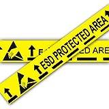 Anti statische gelb ESD geschützt Bereich Boden Klebeband