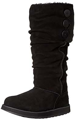 Skechers KeepsakesBrrrr, Damen Langschaft Stiefel, Schwarz (BLK), 35 EU (2 Damen UK)