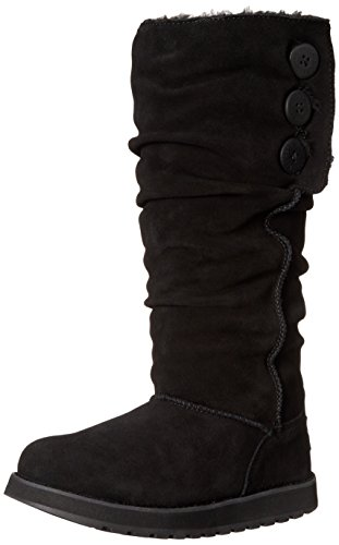 Skechers Keepsakes Brrrr, Damen Langschaft Stiefel, Schwarz (BLK), 36 EU (3 Damen UK) (Stiefel Fashion Leder Skechers)