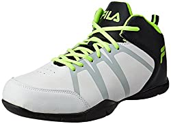 Fila Mens Zocar White and Black Basketball Shoes - 10 UK/India (44 EU)