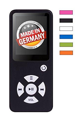 BERTRONIC Made in Germany BC01 Royal MP3-Player mit Kopfhörer ★ Bis 100 Stunden Wiedergabe ★ Radio | Portabler Player mit Lautsprecher | Audio-Player für Sport mit Micro SD-Kartenslot