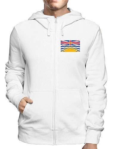 Sweatshirt Hoodie Zip Weiss TM0170 British Columbia Flag